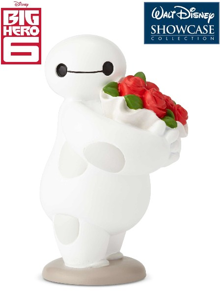 Disney Showcase Big Hero 6 Baymax Holding Flowers Mini Statue